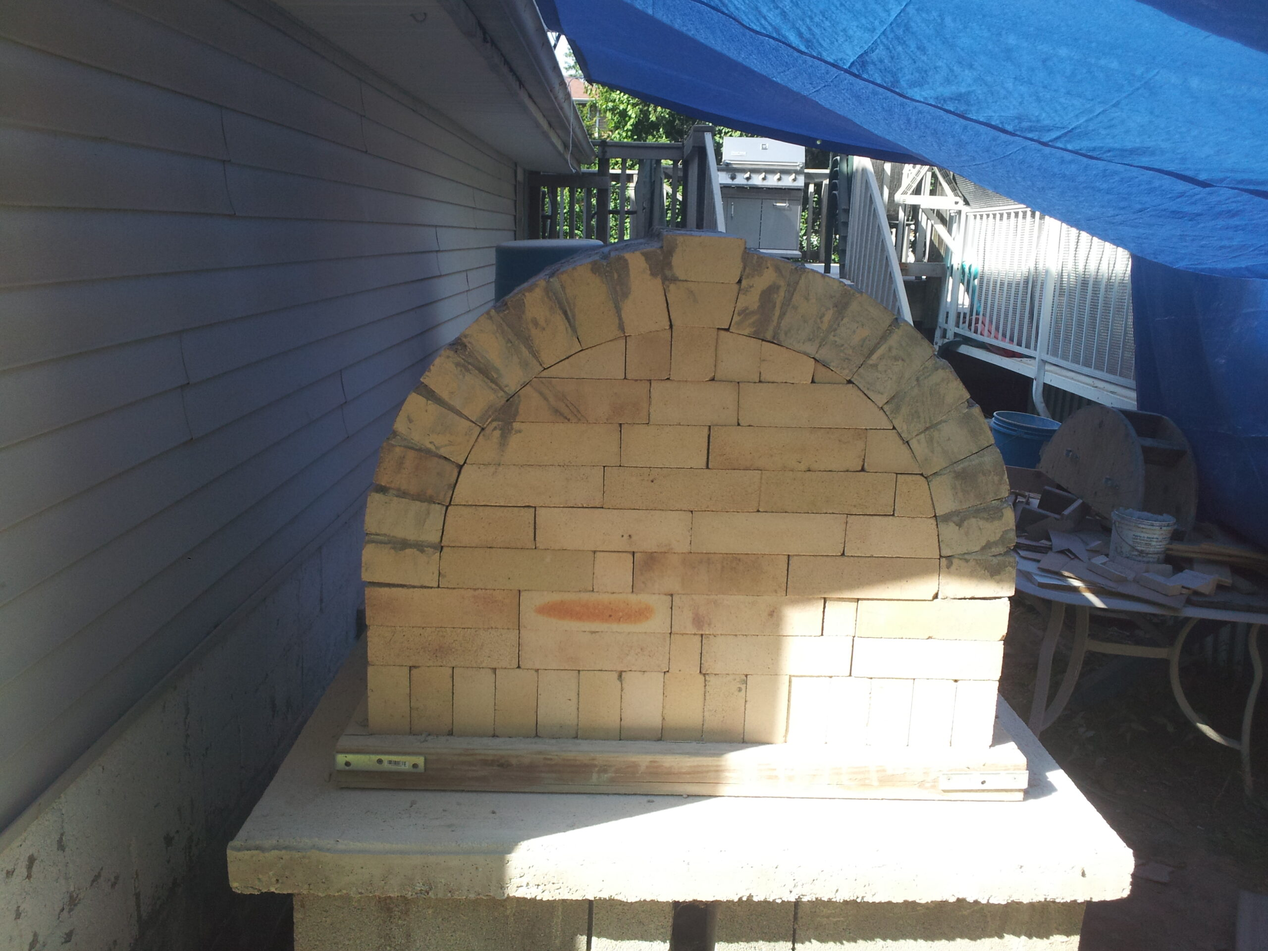 Building The Oven back