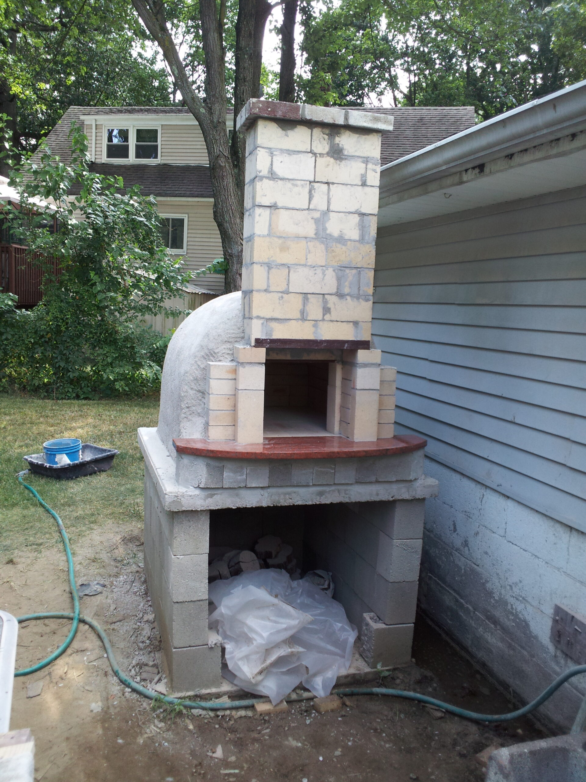 Building The Oven chimney